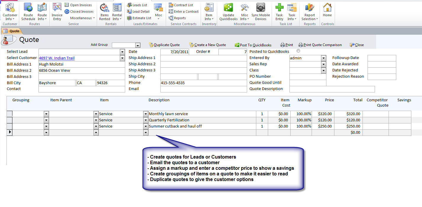 quickbooks irrigation software