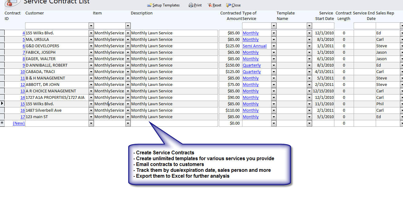 QuickBooks Compatible Irrigation Maintenance Service Software - Lawn care invoice software