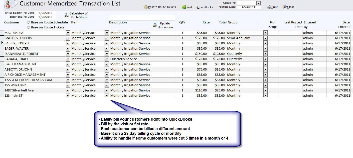 QuickBooks Compatible Lawn Care & Landscape Service Software