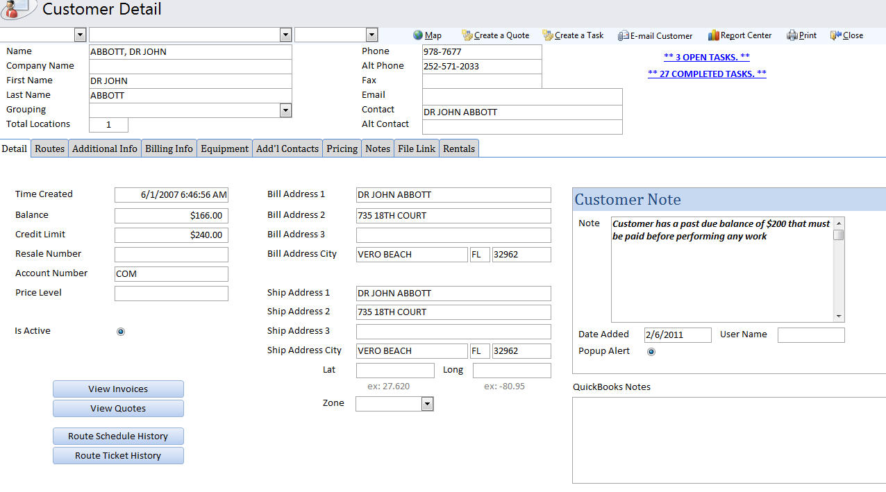 QuickBooks Compatible Pool Spa Service Software The Service - Services invoice template